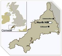 North Hill, near Launceston, Cornwall, United Kingdom of Great Britain and Northern Ireland.